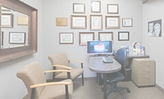 The various awards and other recognitions Dr. Clark has earned adorn our practice walls.