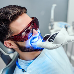 In-office teeth whitening is more effective and more economical over the long run.