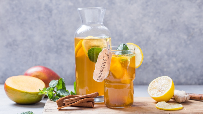 Kombucha is often advocated for its health benefits but can actually undermine your tooth enamel.