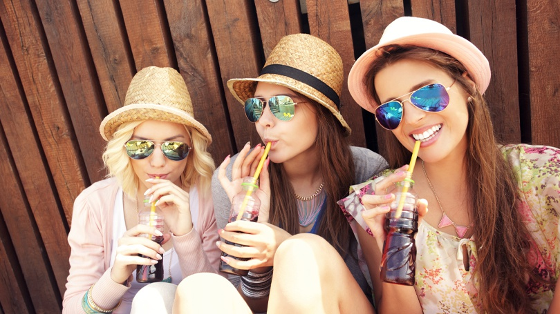 The beverages you drink cannot only stain your teeth but undermine their enamel, which makes them more prone to cavities.