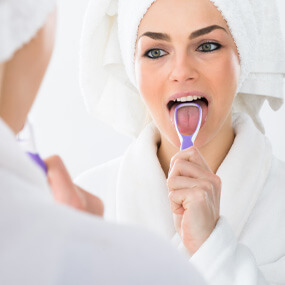 Brushing your tongue is important to managing oral bacteria.