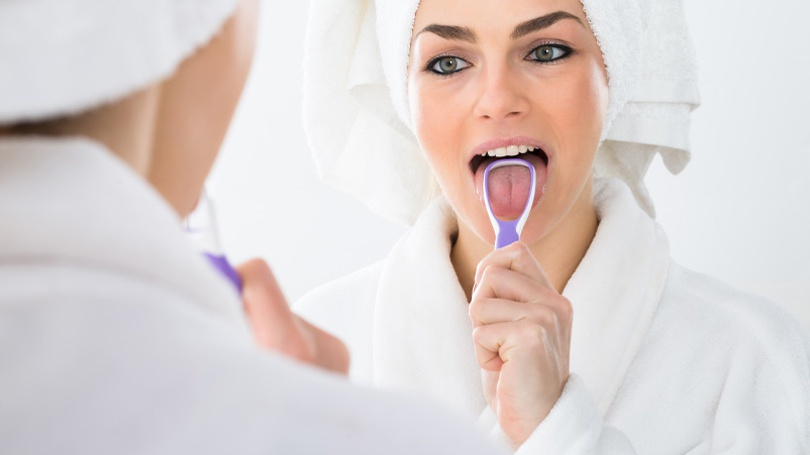 Many people overlook their tongues when brushing their teeth, but the tongue can harbor a great deal of bad bacteria.