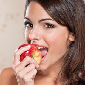 Feed your teeth and gums properly through your diet choices.