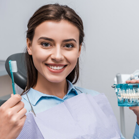 Plaque beneath the gum line must be removed by your dentist or dental hygienist.